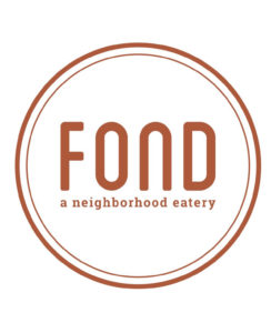 FOND a neighborhood eatery logo