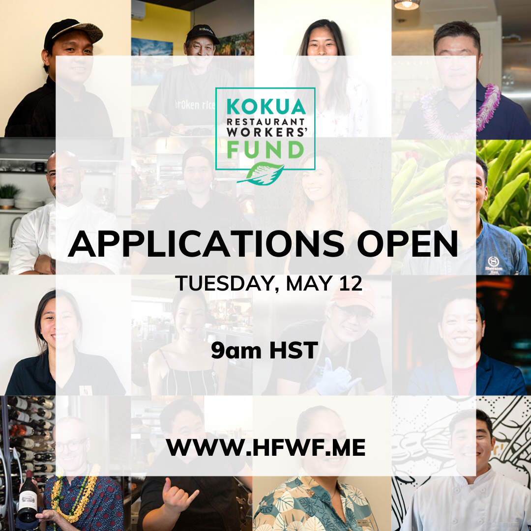 #KokuaForRestaurants: Workers Apply tomorrow!, May 11